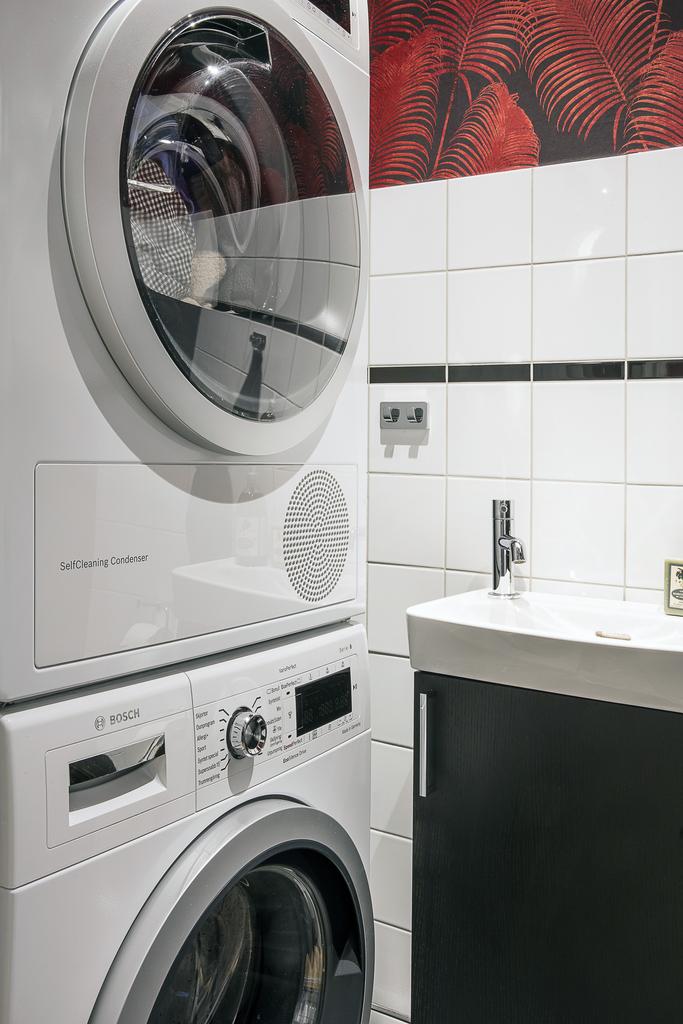 ... med en tvättpelare