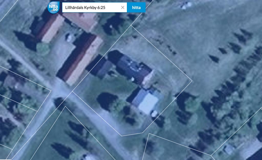 Satellitbild Lillhärdals Kyrkby 6_25