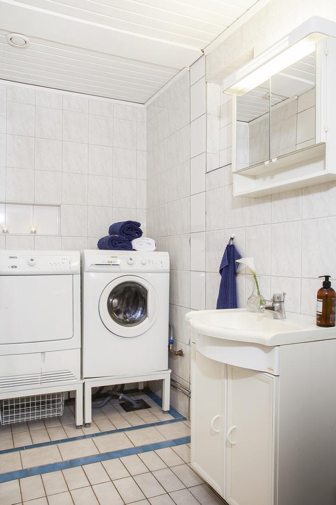 Tvättstuga med handfat