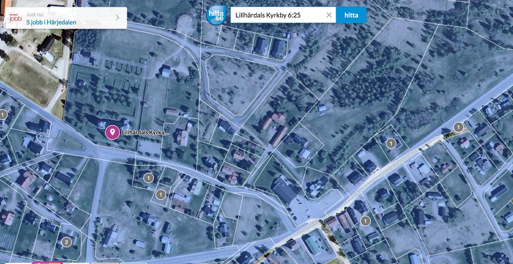 Satellitbild Lillhärdals Kyrkby