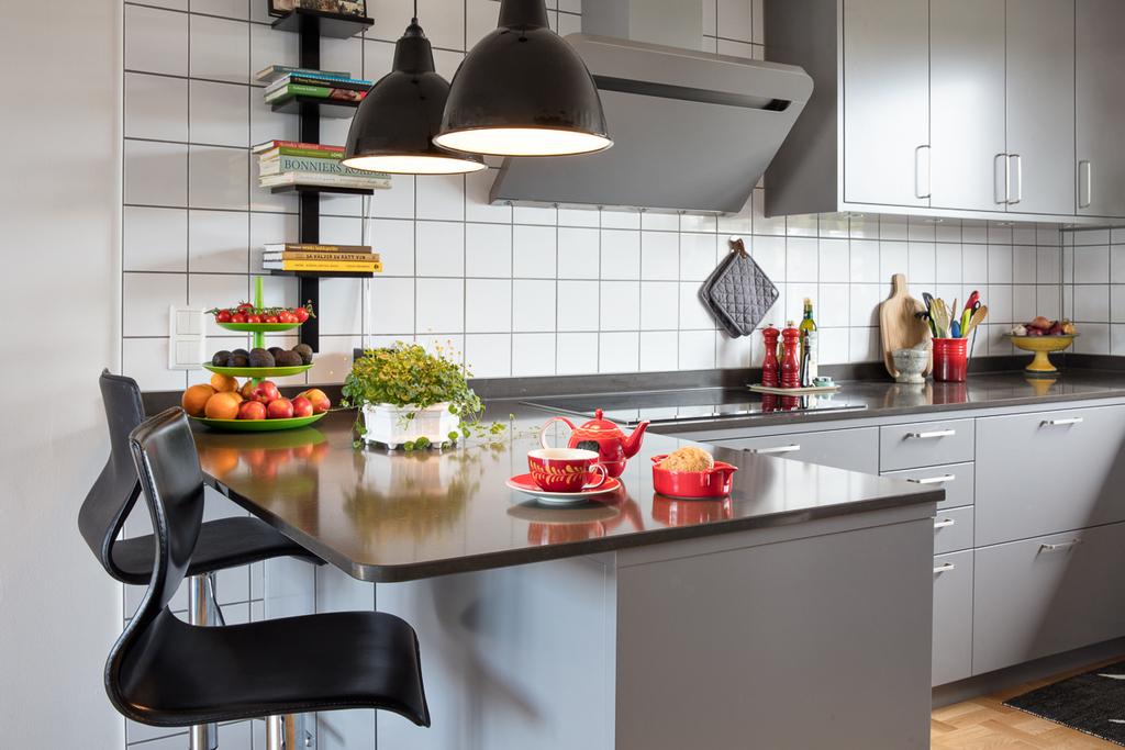 Köket renoverades 2018 med inredning från Ballingslöv