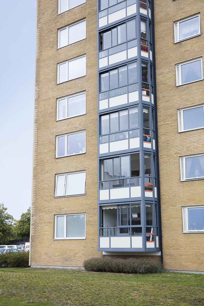 Balkongen utifrån sett, på tredje våningen