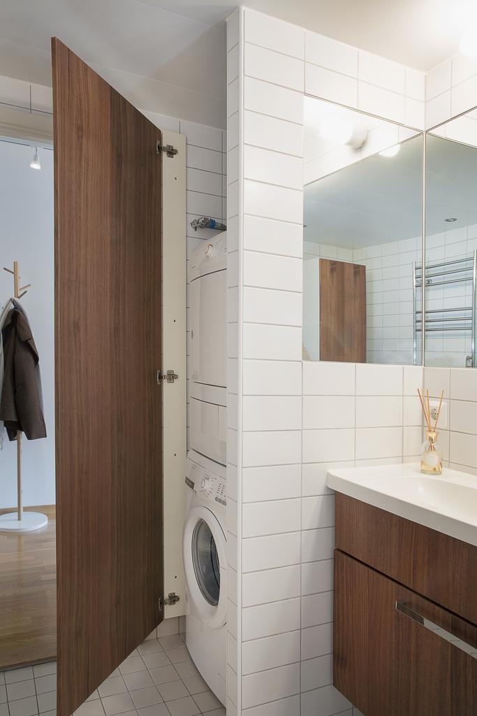 Här finns även en separat avdelning för tvättpelaren