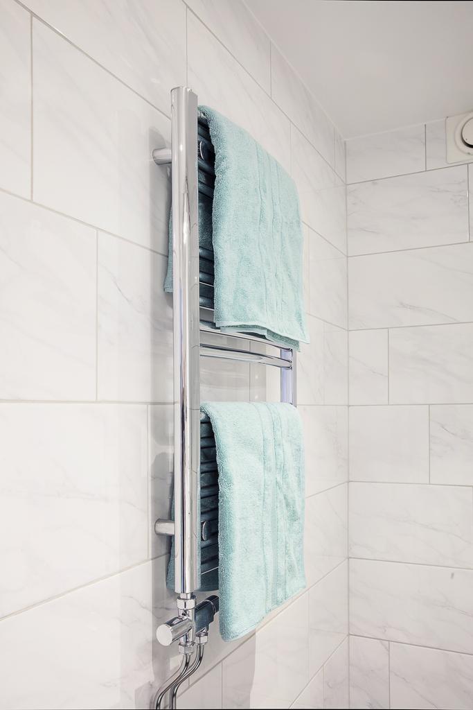 Detaljbild - vattenburen handdukstork