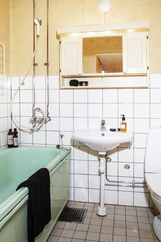 Badrummet är i originalutförande