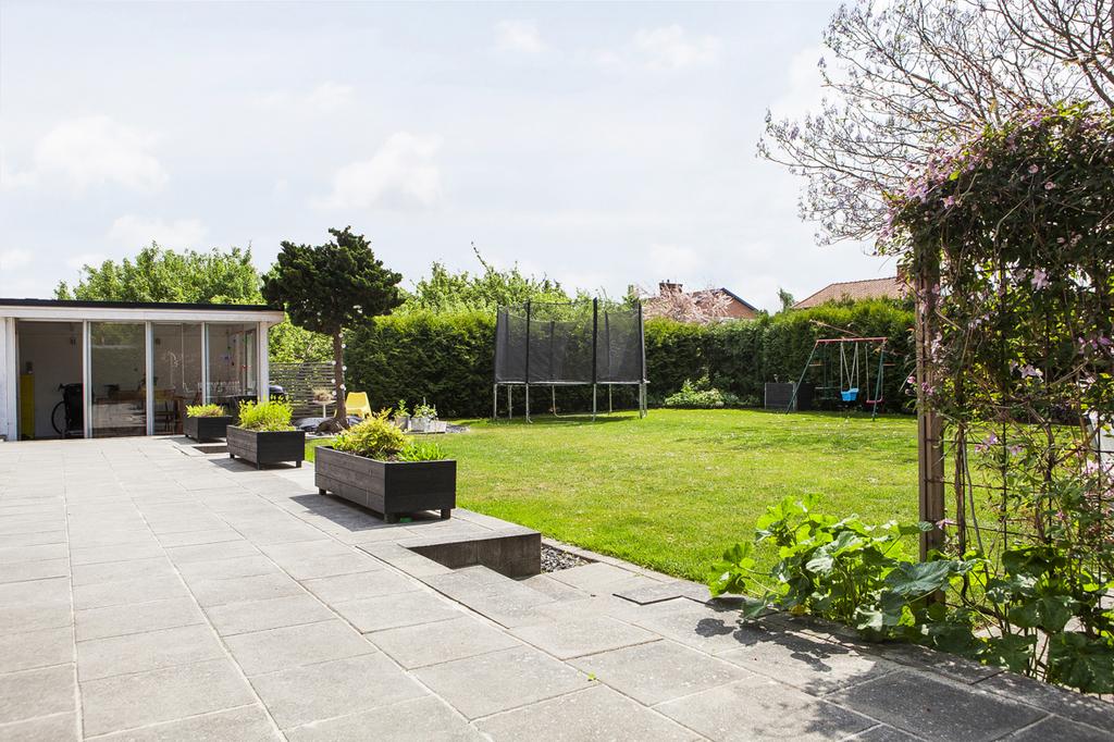 Trädgården vetter mot söder