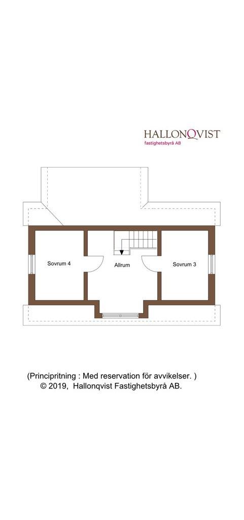 Planritning - ovanvåning