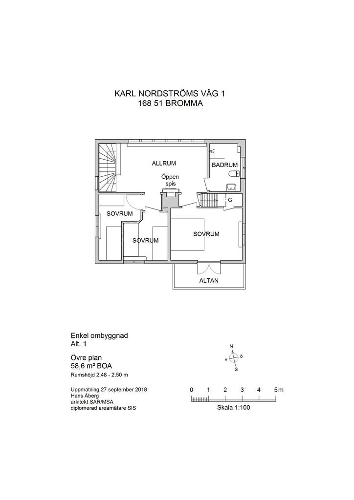 Förslag 1, enkel ombyggnad