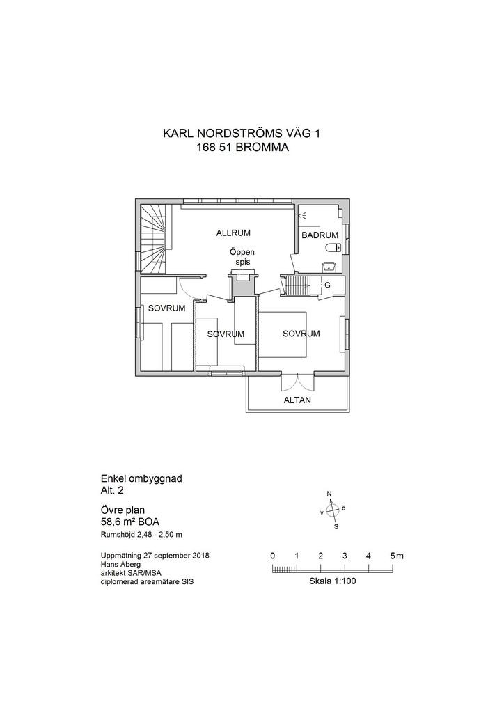 Förslag 2, enkel ombyggnad
